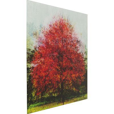 Cuadro cristal Baum rojo 80x80cm