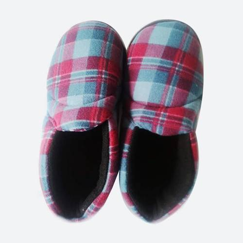 Pantuflas Cerrada Tipo Zapato Azul Y Vino tinto 0017 - Mara Clothes