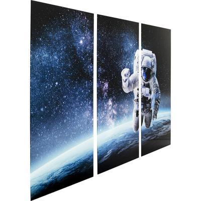 Cuadro cristal Triptychon Man in Space 160x240cm