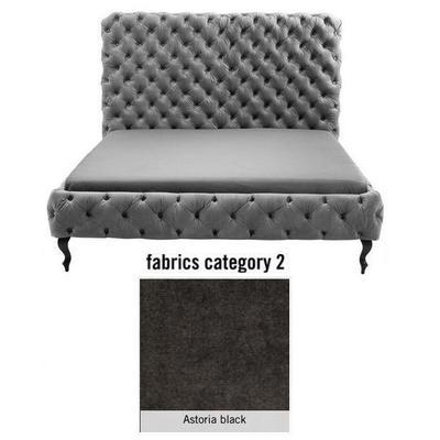 Cama (Alta) Desire, tela 2 - Astoria Black, (138x177x228cms), 160x200cm (no incluye colchón)