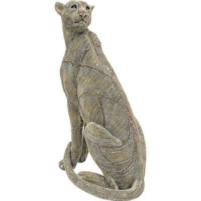 Objeto decorativo Sitting Leopard Pearls 42