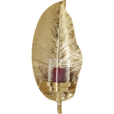 Portavelas Leaf dorado