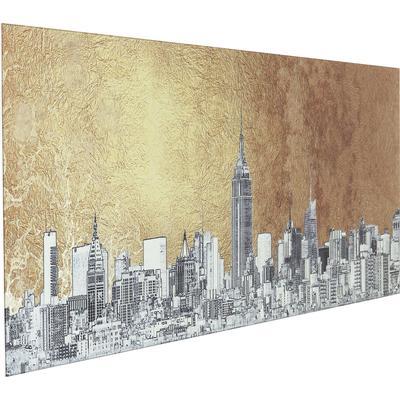 Cuadro cristal Metallic NY View 50x120cm