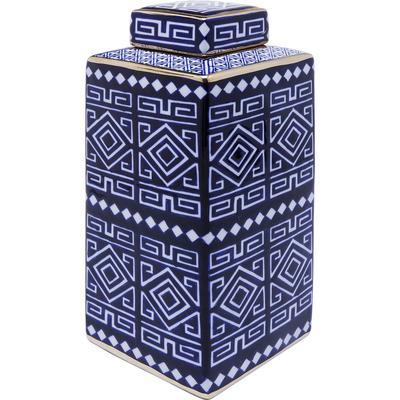 Vasija decorativa Mosaico Square azul 30cm