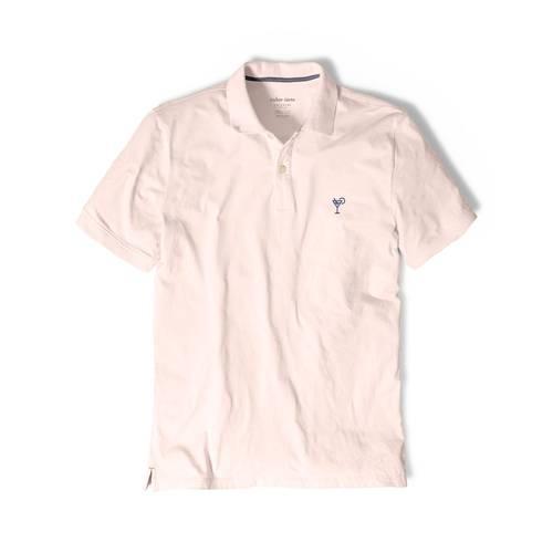 Polo Color Siete Para Hombre Rosado - Coctel