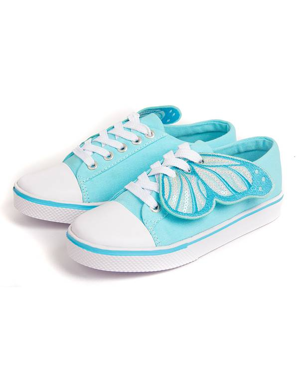 Tenis textil azul mariposas niñas