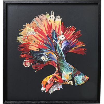 Cuadro Art Betta Fish Colore Right 65x65cm