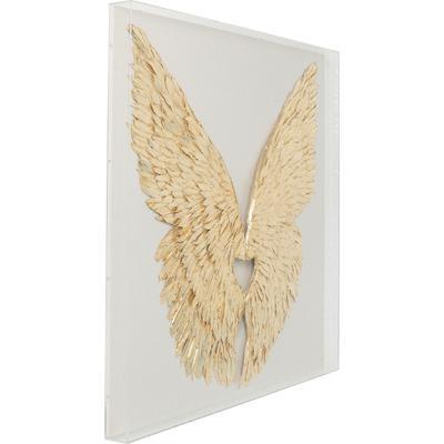 Decoración pared Wings oro blanco 120x120cm