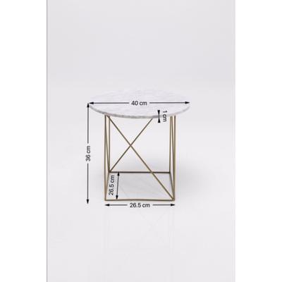 Mesa auxiliar Key Largo blanco Ø40cm