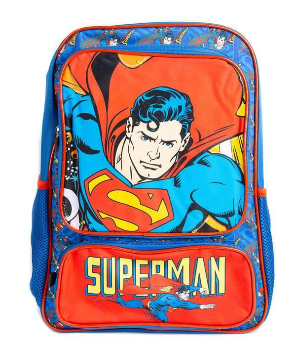 "MOCHILA SIN RUEDA SUPERMAN 16¨"""