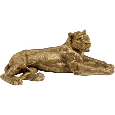 Objeto decorativo Lion oro