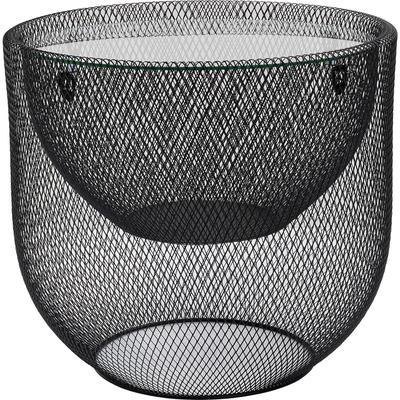 Mesa centro Grid negro Ø50cm