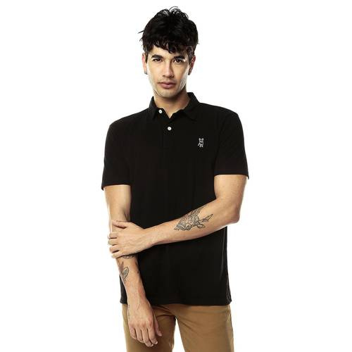 Camiseta tipo Polo Jack Supplies para Hombre-Negro
