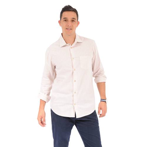 Camisa Manga Larga Thompsom Color Siete Para Hombre - Beige