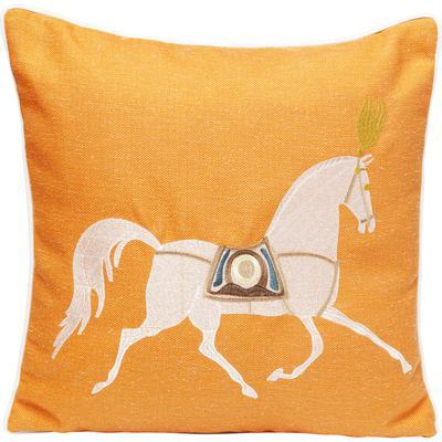 Cojín Classy Horse naranja 45x45cm