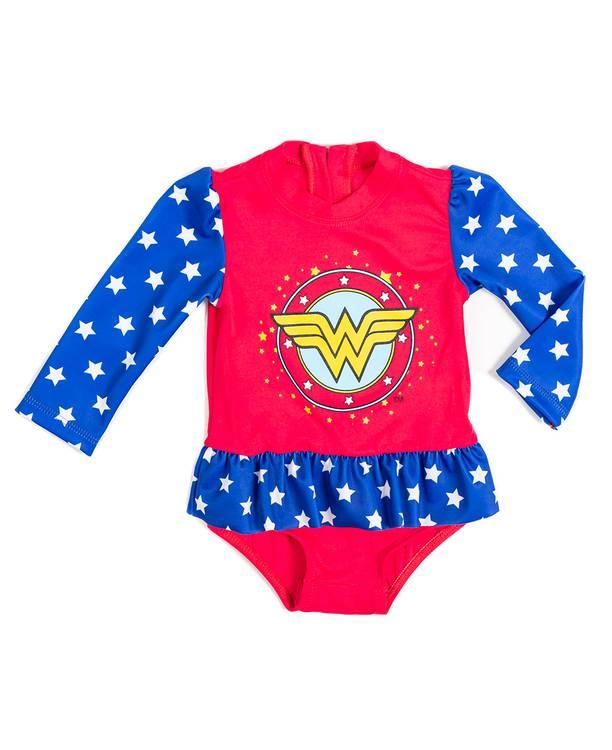 Vestido Baño Bebita Wonder Woman