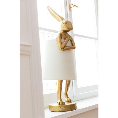 Lámpara mesa Animal Rabbit oro blanco 68cm