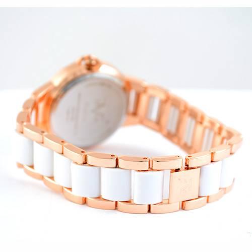 Reloj blanco-oro rosa-blanco 45-3