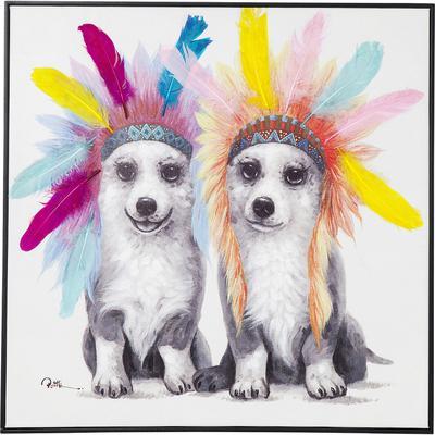 Cuadro Chief Dogs 70x70cm