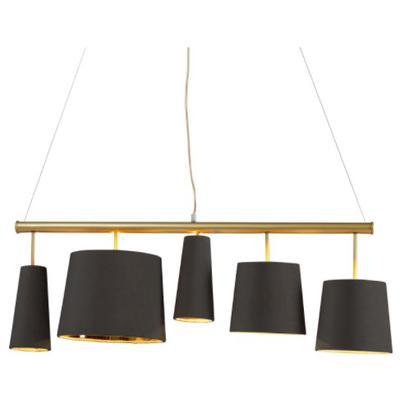 Lámpara Parecchi negro latón 100cm