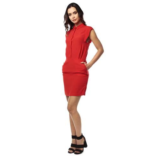 Vestido Color Siete para Mujer - Rojo