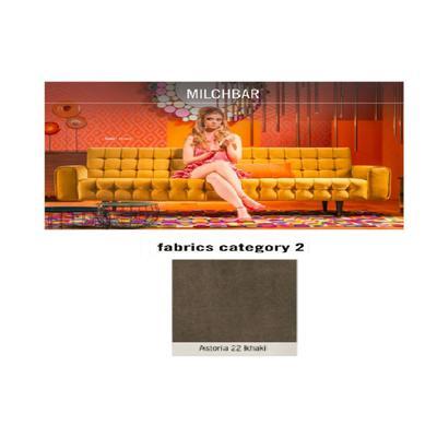 Sofá, 3 puestos, Milchbar, tela 2 - Astoria 22 khaki (230x72x80cms)