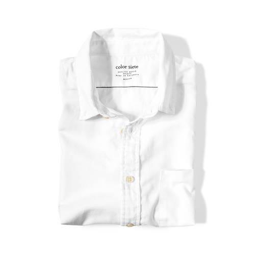 Camisa Wooster Color Siete Para Hombre - Blanco