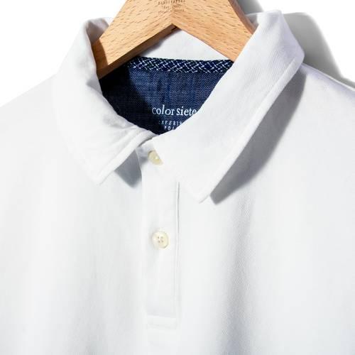 Polo Color Siete Para Hombre  - Blanco