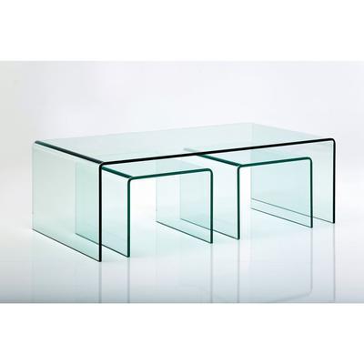 Mesa centro Clear Club (3 piezas)