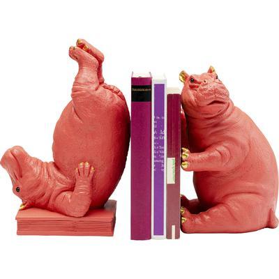 Sujetalibros Hippo rosa (2/Set)