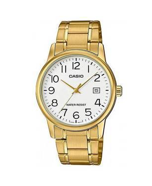 Reloj Análogo Blanco-Dorado -7B2 - Casio