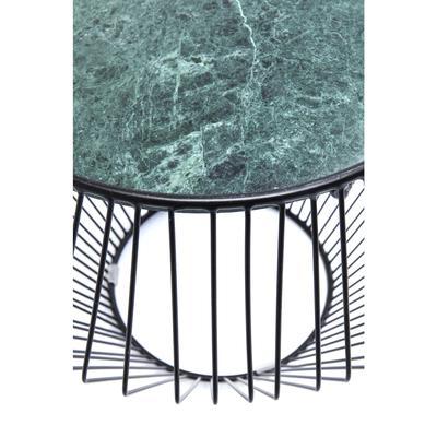 Mesa auxiliar Beam mármol verde negro Ø40cm