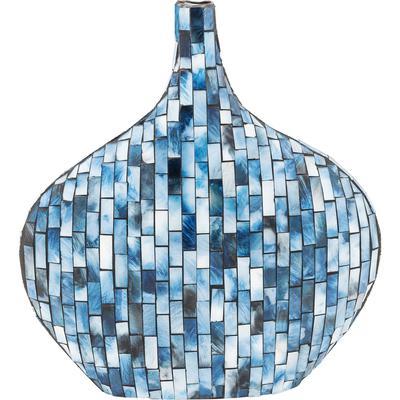 Vasija Mosaico azul 33cm