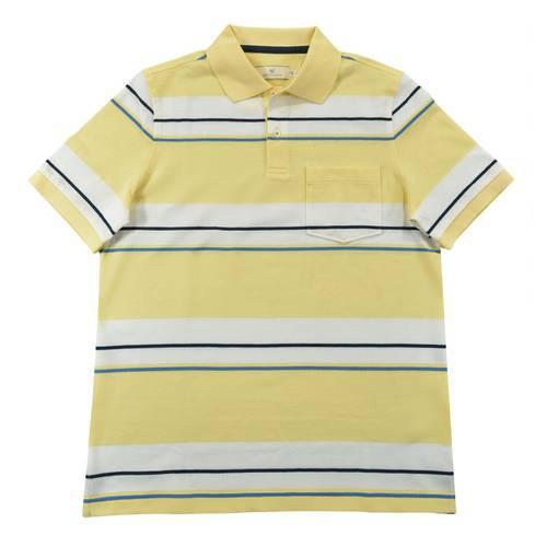 Camiseta Polo Nal Rayas Pique 120-82 Amarillo