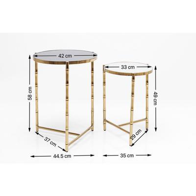 Mesa auxiliar Hipster Bamboo (2/Set)