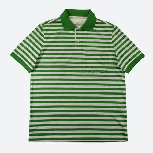 Camiseta Polo Nal Rayas Jersey 830-88 Verde