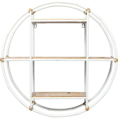 Estantería pared Jungle Bambo blanco Ø60cm