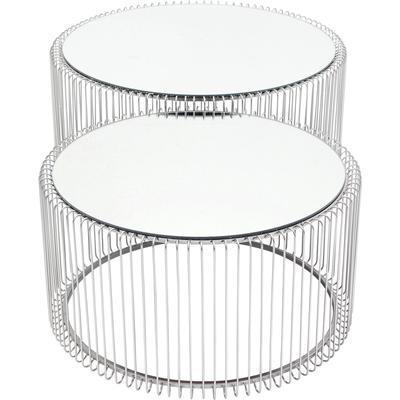 Mesa centro Wire plata (2/Set)