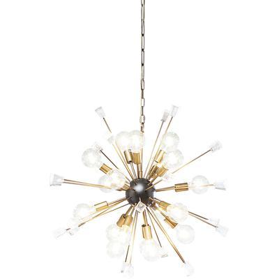 Lámpara Crystal Bomb Brass Ø93cm