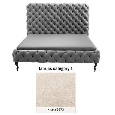 Cama (Alta) Desire, tela 1 - Kitana 9573, (138x177x228cms), 160x200cm (no incluye colchón)