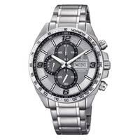 Reloj analógico blanco-acero 61-1