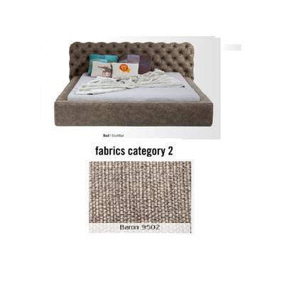 Cama Slumber,  tela 2 - Baron 9502,   (87x208x239cms), 160x200cm (no incluye colchón)