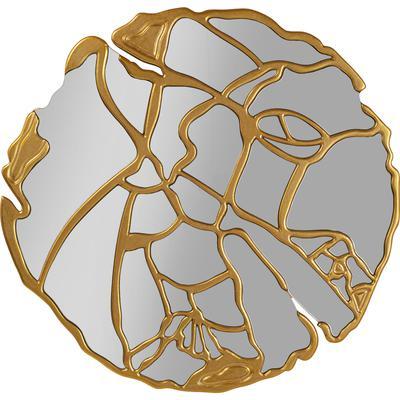 Espejo Pieces oro Ø100cm