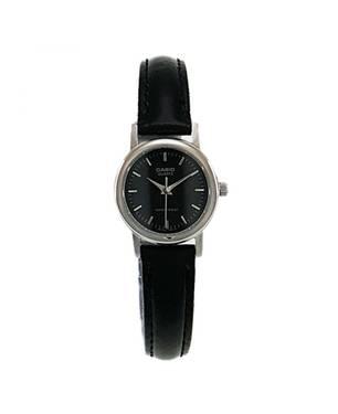 Reloj análogo negro-negro E-1A