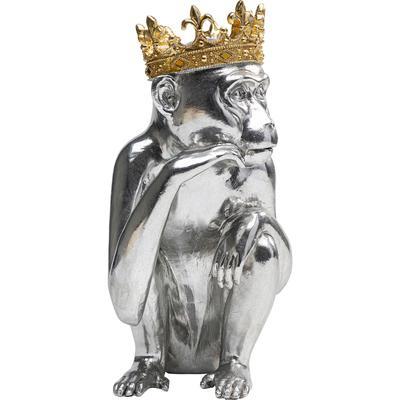 Figura deco King Lui plata 35cm