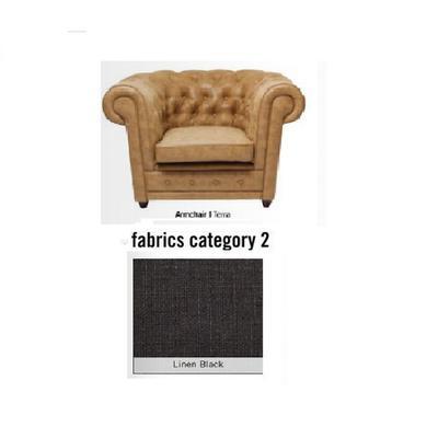 Poltrona Oxford, tela 2 - Linen Black  (115x76x92cms)