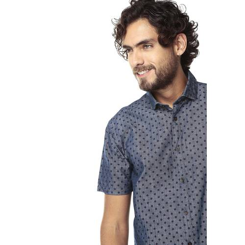 Camisa Manga Corta Murray Color Siete - Azul