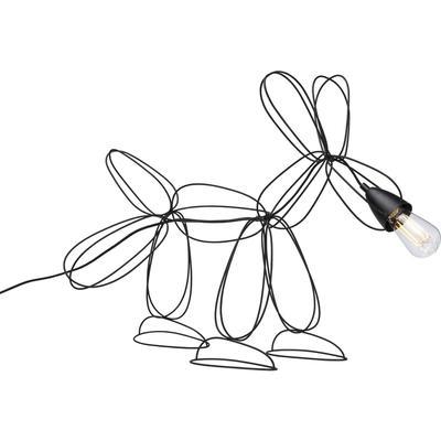 Lámpara mesa Dog Wire negro