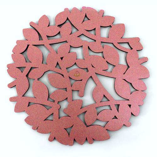 Individual para Mesa, Doble Faz Oro Rosa Mod Flower 42cm