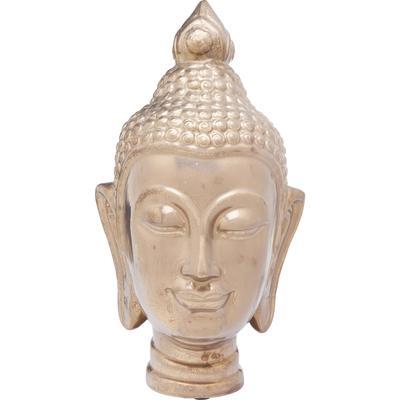 Cabeza decorativa Asia oro